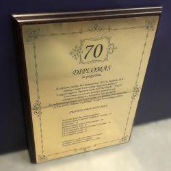 dovana-70-metu-diplomas-sveikinimas su pagyrimu