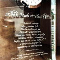Dovana-santuokos-40-metu stiklinis laikrodis