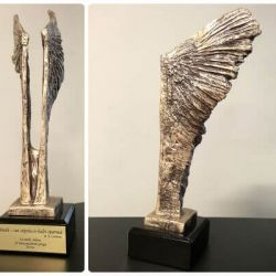 graviruotas apdovanojimas-sparnai