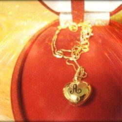 auksinis-pakabukas-inicialai gimtadieniui