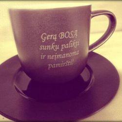 dovana-bosui-puodelis arbatai kavai