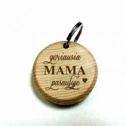 dovana mamai pakabukas medinis graviruotas