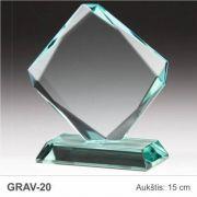 stiklinis apdovanojimas rombas