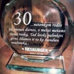 hesburger-apdovanojimas is stiklo su dezute