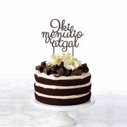 tortas vestuvinis nude su dekoracija iki menulio ir atgal