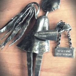 angelas metalinis ikurtuviu dovana
