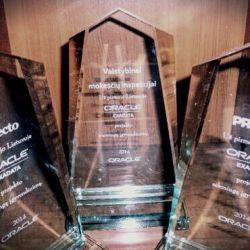 stikliniai oracle-apdovanojimai
