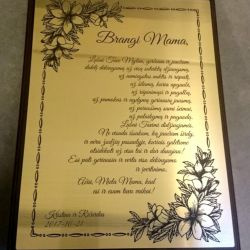 padeka-mamai-plakete su auksine lentele