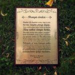 graviruotas padekos tekstas teveliams ant medines lenteles
