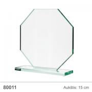 stiklinis apdovanojimas astuonkampis