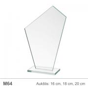 stiklinis apdovanojimas bure
