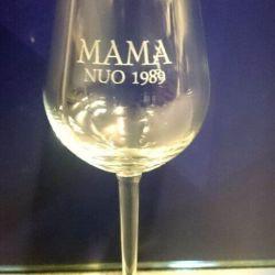 dovana mamai graviruota vyno taure
