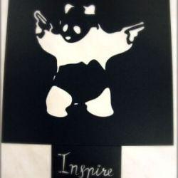 trafaretas-panda