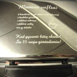 vafliams-vafline dovana su receptu