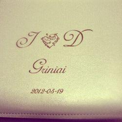 graviruotas vestuviu-albumas