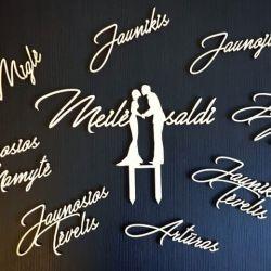 vestuviu-sveciu-vardai-mediniai pjaustyti lazeriu