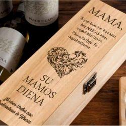 medine vyno dezute mamai graviruota lazeriu