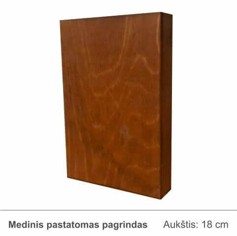 medinis-pastatomas-pagrindas-rudas