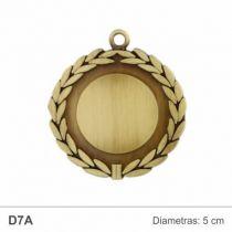 medalis 5 cm metalinis