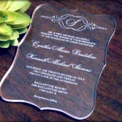 vestuviu Kvietimas-plastikas-skaidrus graviruotas