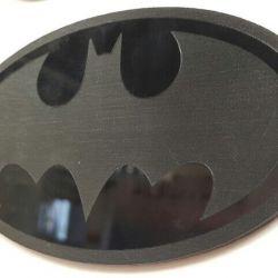 akrilas graviruotas batman zenklas juodas