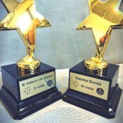 apdovanojimai statuleles bunke-katleris zvaigzdes
