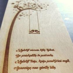medine graviruota dezute sveikinimas vestuviu proga