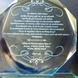 stiklinė padeka dovana aukletojai lenkiskas tekstas