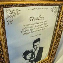 dovana-auksiniu-vestuviu-proga-veidrodis su nuotraukom