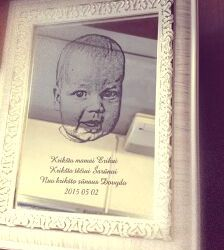 dovana kriksto teveliams graviruotas veidrodis su padeka