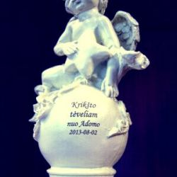 dovana krikstynu proga statulele angeliukas