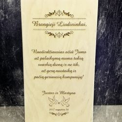 dovana-liudininkams medine dezute su padekos tekstu