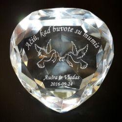 dovanos-vestuviu-sveciams-deimantas graviruotas