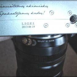 fotoaparatas-graviruotas dovanu