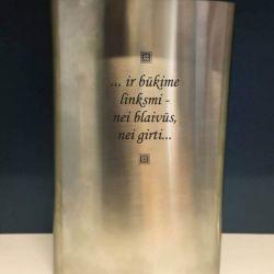 metaline gertuve graviruota dovana gimtadienio