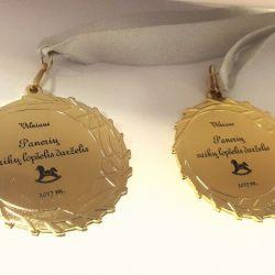medaliai lopselio darzelio isleistuviu proga