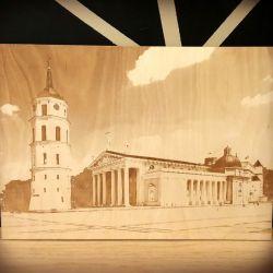 Vilniaus katedra nuotrauka-graviruota