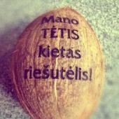 graviruotas kokoso-riesutas tevo dienos proga