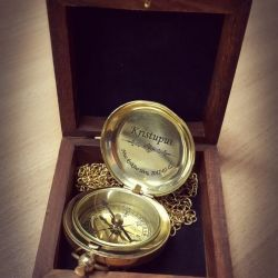 kompasas-auksinis-dovana nuo kriksto-tevu