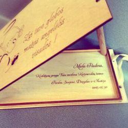 krikstynu medinis vokelis pinigams dovanai