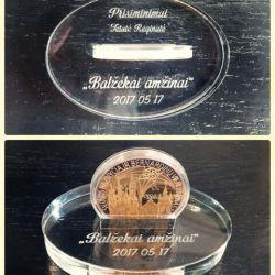 medalis suvenyrinis dovana su laikikliu graviruotas