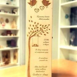 graviruota dezute medine vynui padeka vestuviu liudininkams