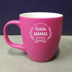 rozinis puodelis dovana kriksto mamai