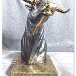 graviruota statula-money bulius metalinis