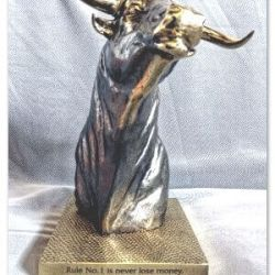 apdovanojimas statula-money