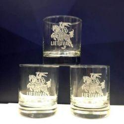 stiklines graviruotas vytis lietuva