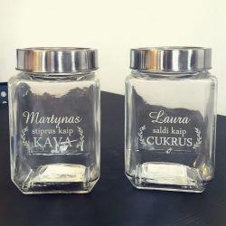 stikliniai indai biriems produktams dovana ivairiom progom