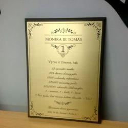 sveikinimas-dovana-vieneriu-metu vestuviu