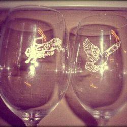 taures vynui graviruota tigras balandis