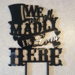 torto-smeigtukas-dekoracija-madly-in-love juodo plastiko